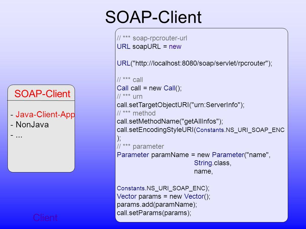 SOAP-Client Client - Java-Client-App - NonJava -...