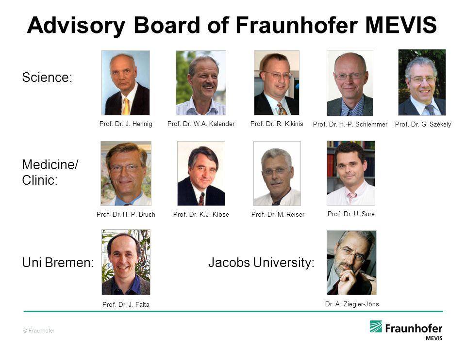 © Fraunhofer Prof. Dr. J. HennigProf. Dr. W.A. KalenderProf. Dr. R. Kikinis Prof. Dr. H.-P. BruchProf. Dr. K.J. KloseProf. Dr. M. ReiserProf. Dr. U. S