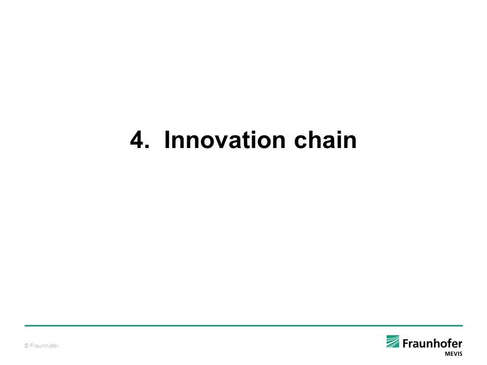 © Fraunhofer 4. Innovation chain