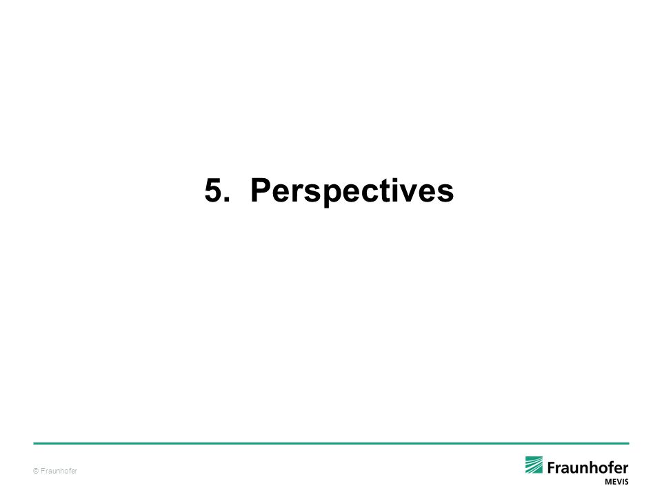 © Fraunhofer 5. Perspectives