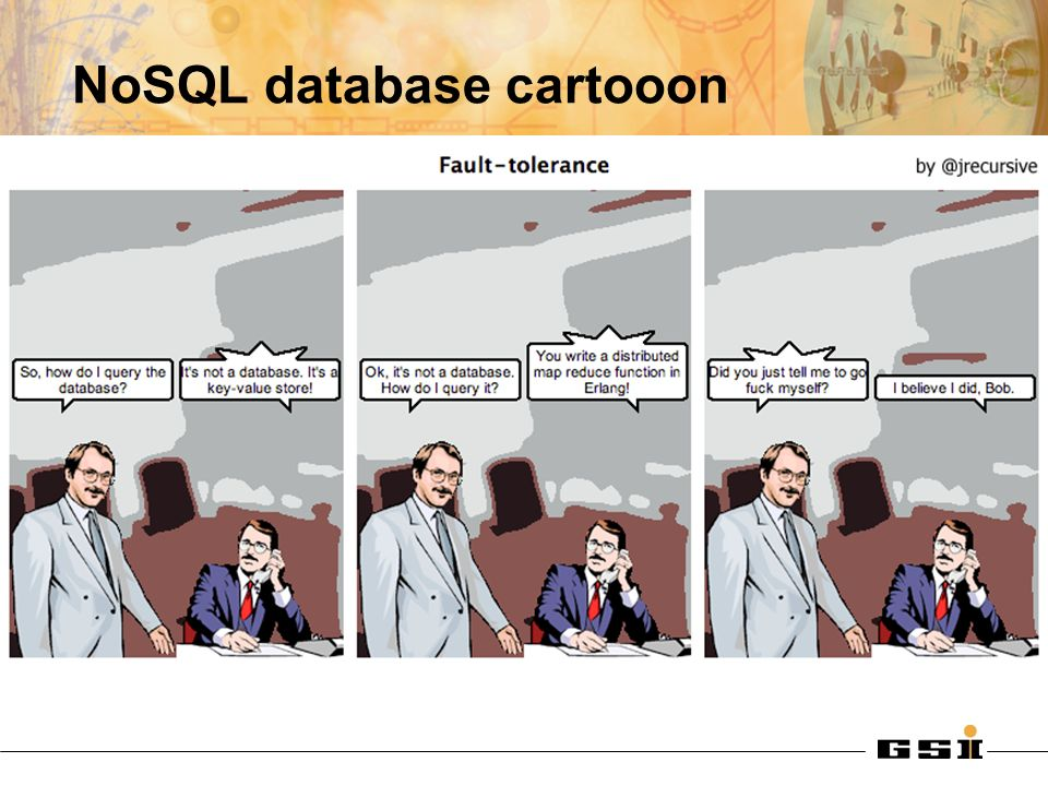 NoSQL database cartooon