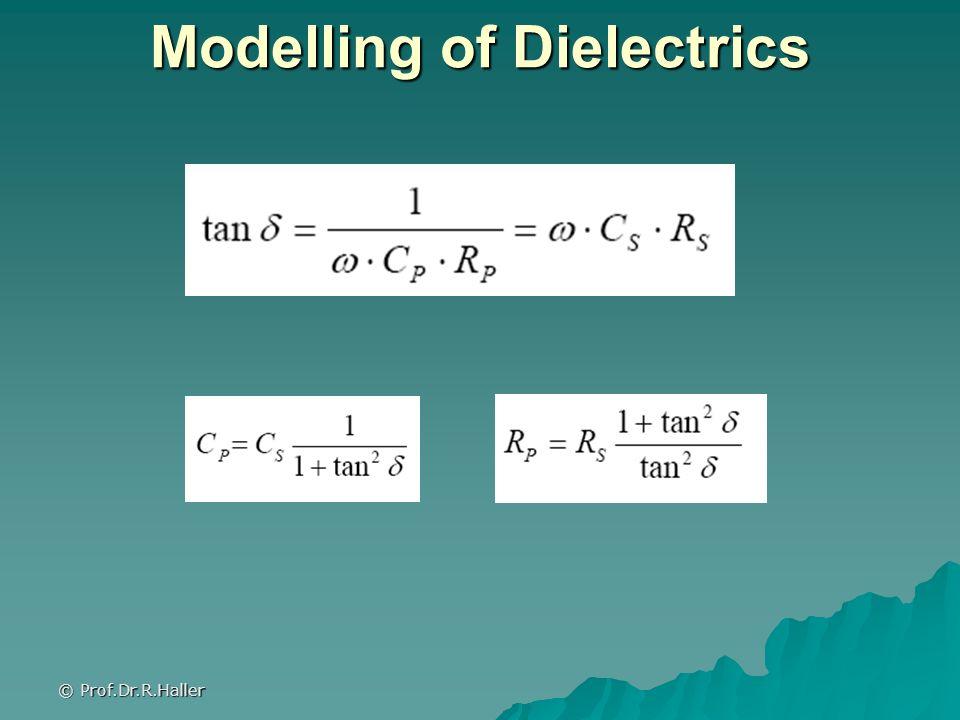 © Prof.Dr.R.Haller Modelling of Dielectrics