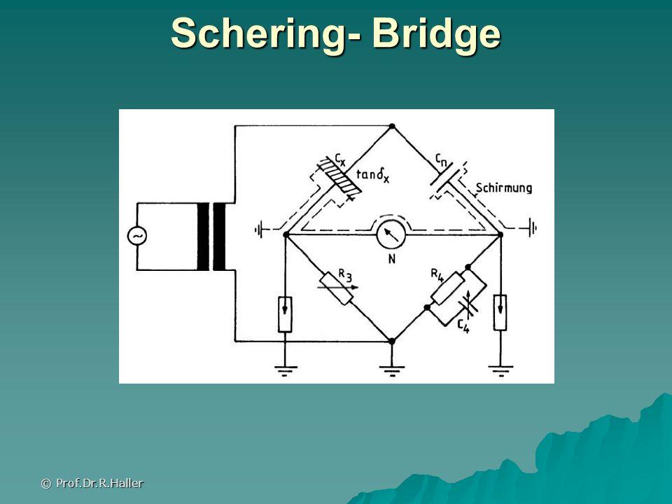 © Prof.Dr.R.Haller Schering- Bridge