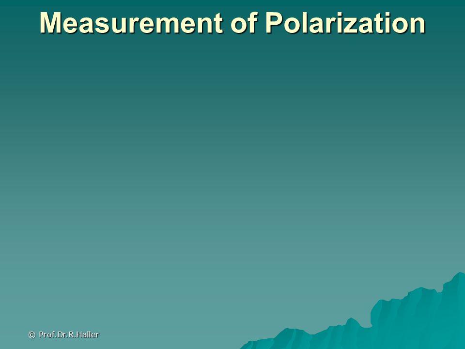© Prof.Dr.R.Haller Measurement of Polarization