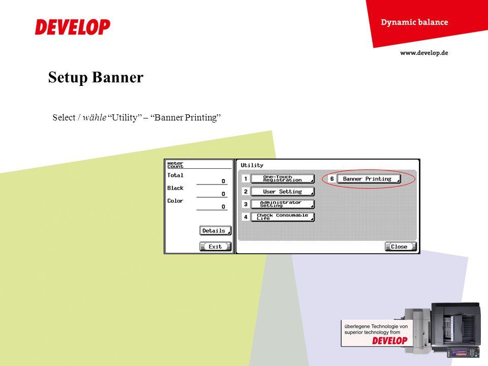 Setup Counter Enter / wähle Service Mode In the Service Mode base screen press Stop-9.