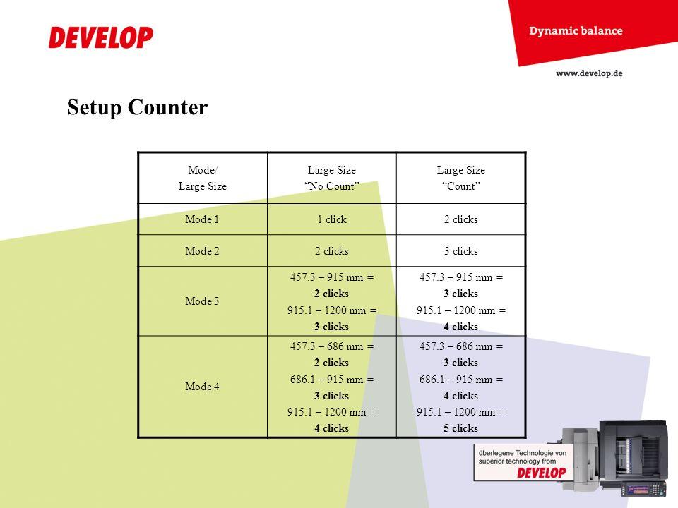 Switch on Banner Printing / Bannerdruck einschalten - NOTICE Paper Settings have not to be done on the machine side, only in printer driver / Papiereinstellungen nur im Druckertreiber, nicht am Kopierer vornehmen.