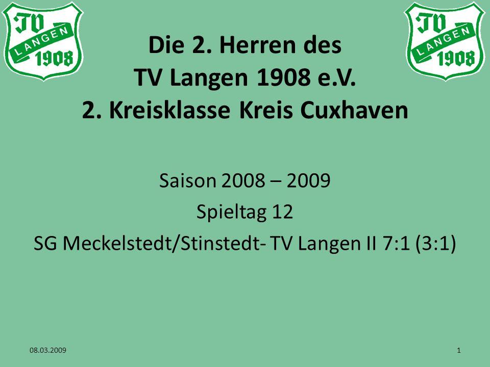 Die 2. Herren des TV Langen 1908 e.V. 2.
