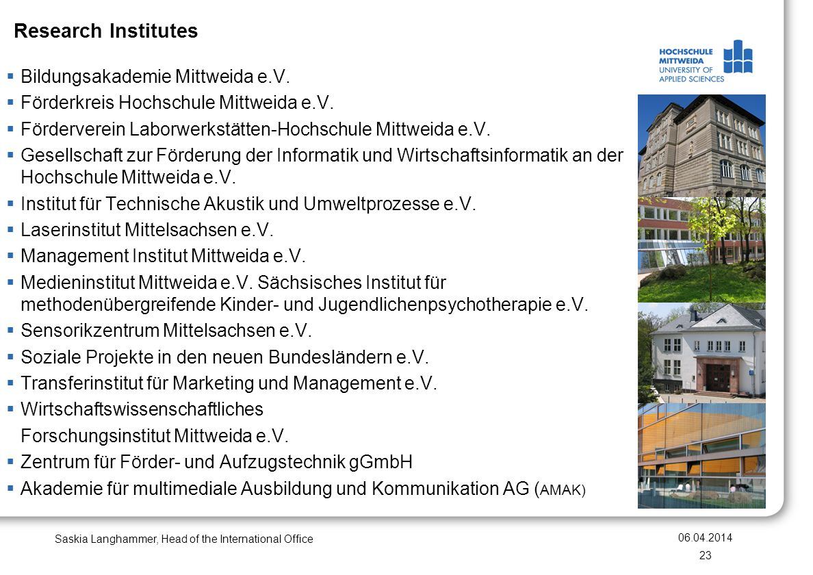 Bildungsakademie Mittweida e.V. Förderkreis Hochschule Mittweida e.V.