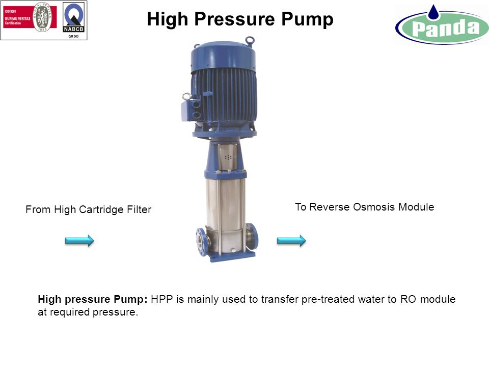 From Dosing System To High Pressure Pump Micron Cartridge Filter MCF: MCF are used to filter out Physical Impurities in micron rating from feed water.
