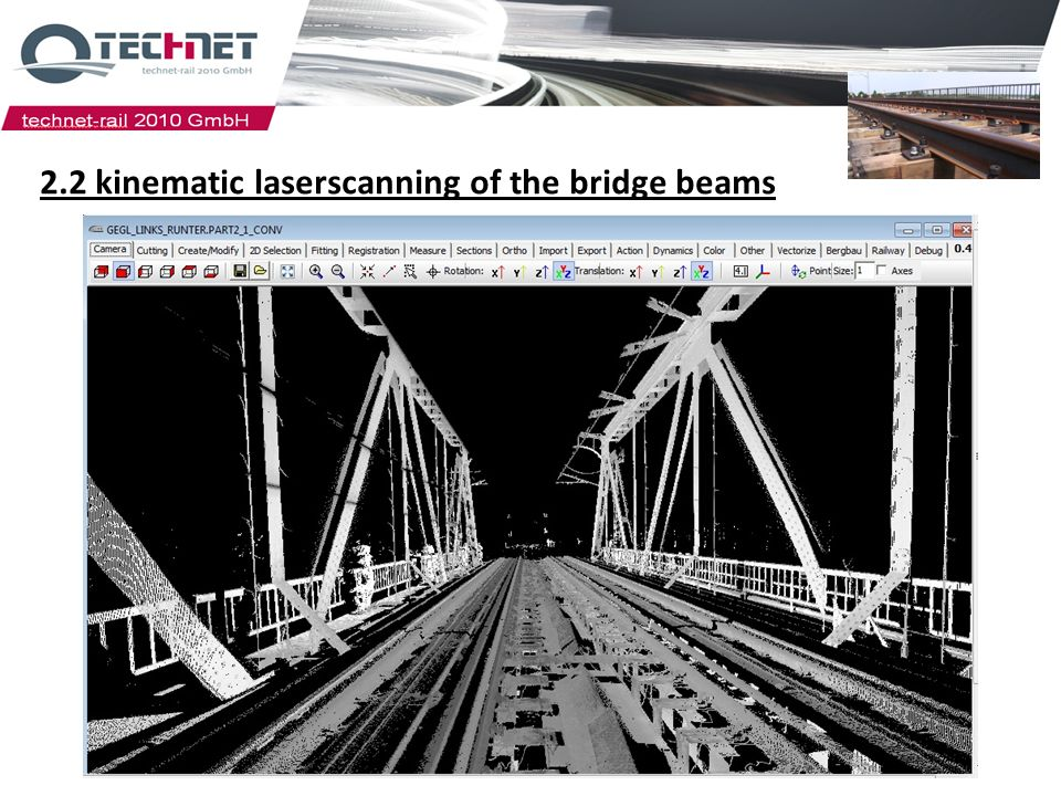 2.2 kinematic laserscanning of the bridge beams