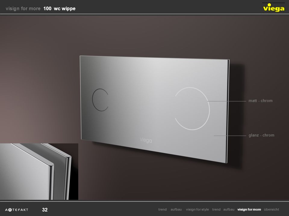 aufbauvisign for styletrendvisign for moretrendaufbauübersicht 32 matt - chrom glanz - chrom visign for more visign for more 100 wc wippe
