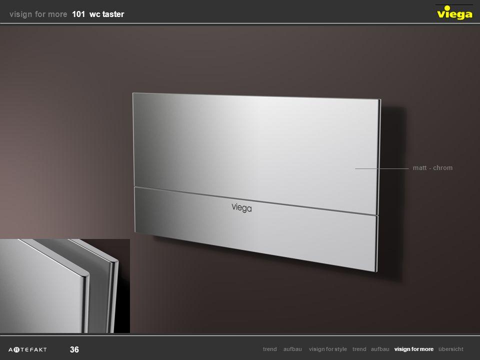 aufbauvisign for styletrendvisign for moretrendaufbauübersicht 36 matt - chrom visign for more visign for more 101 wc taster