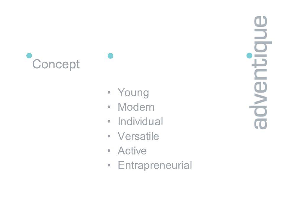 Concept Young Modern Individual Versatile Active Entrapreneurial