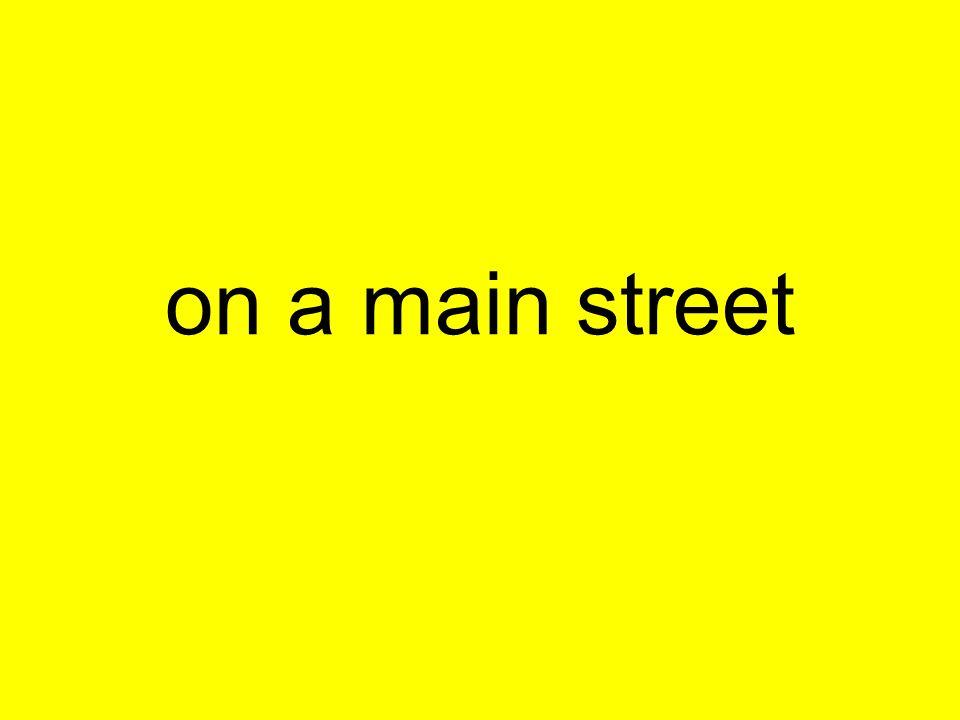 on a main street
