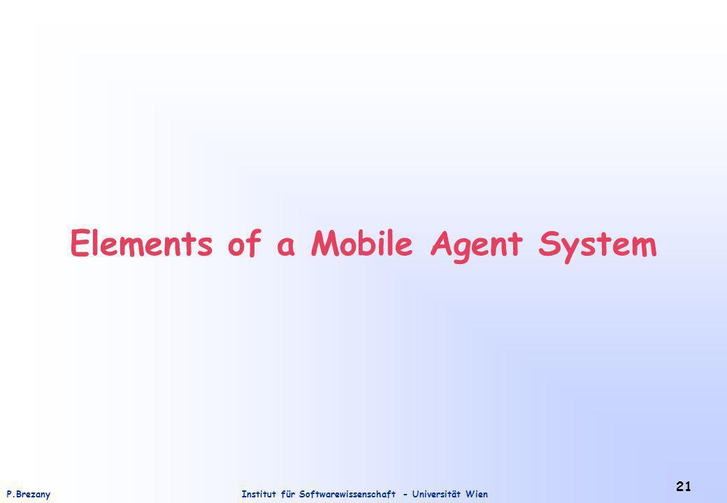 Institut für Softwarewissenschaft - Universität WienP.Brezany 21 Elements of a Mobile Agent System