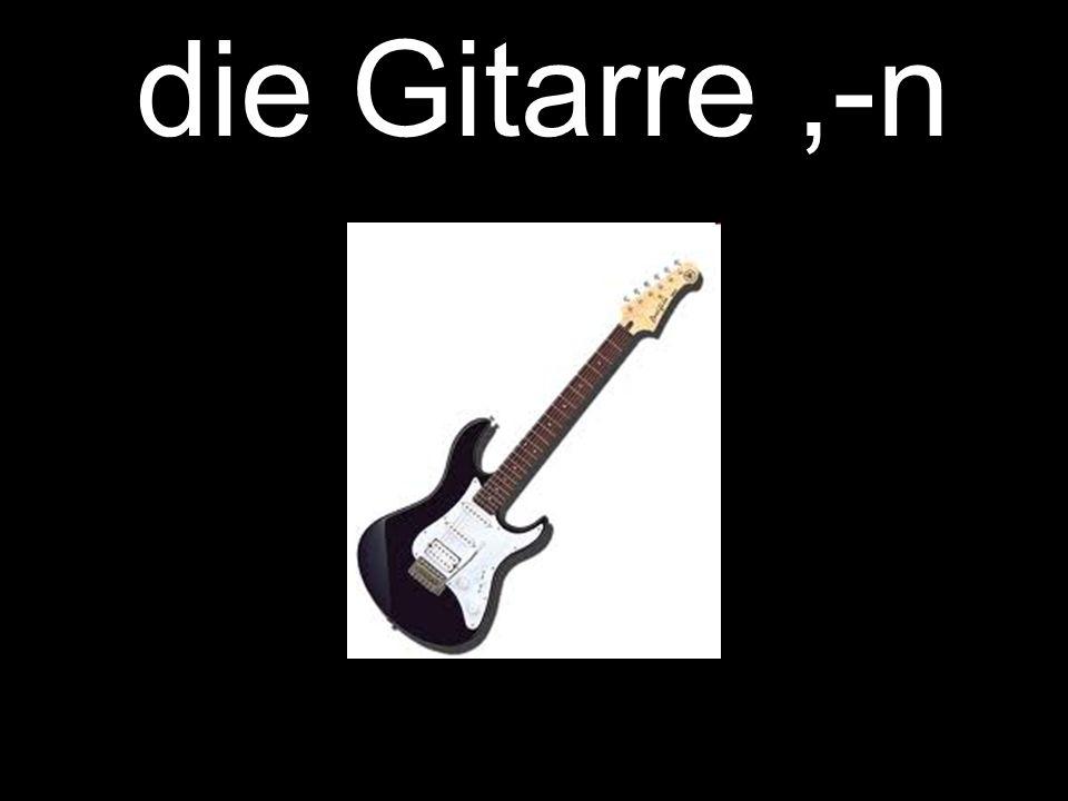 die Gitarre,-n