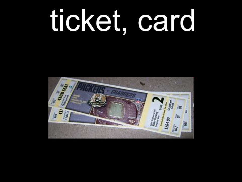 ticket, card