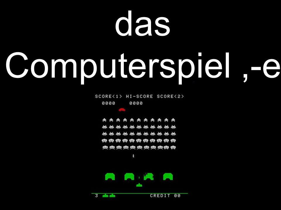das Computerspiel,-e