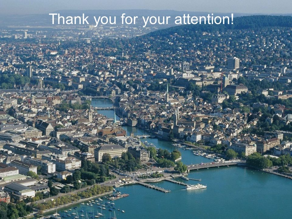 Ecomm2011 Toulouse 18.5.2011, Seite 20 Stadt Zürich Tiefbauamt, M+P Thank you for your attention!