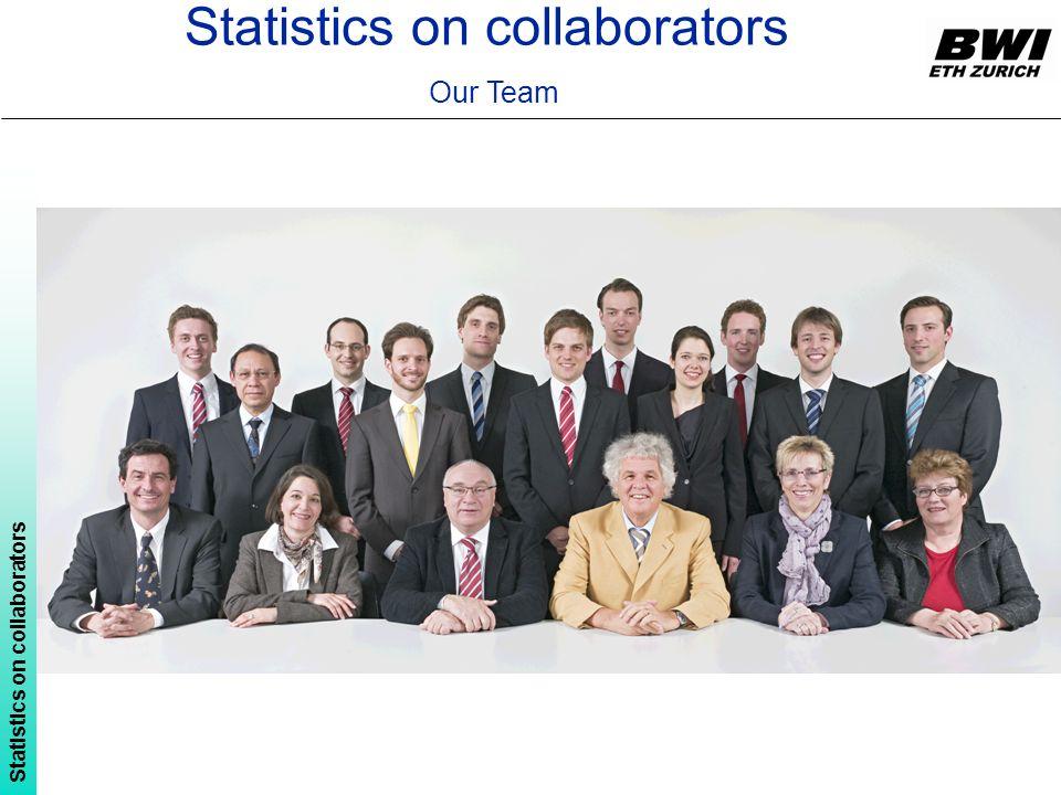 Statistics on collaborators Our Team Statistics on collaborators