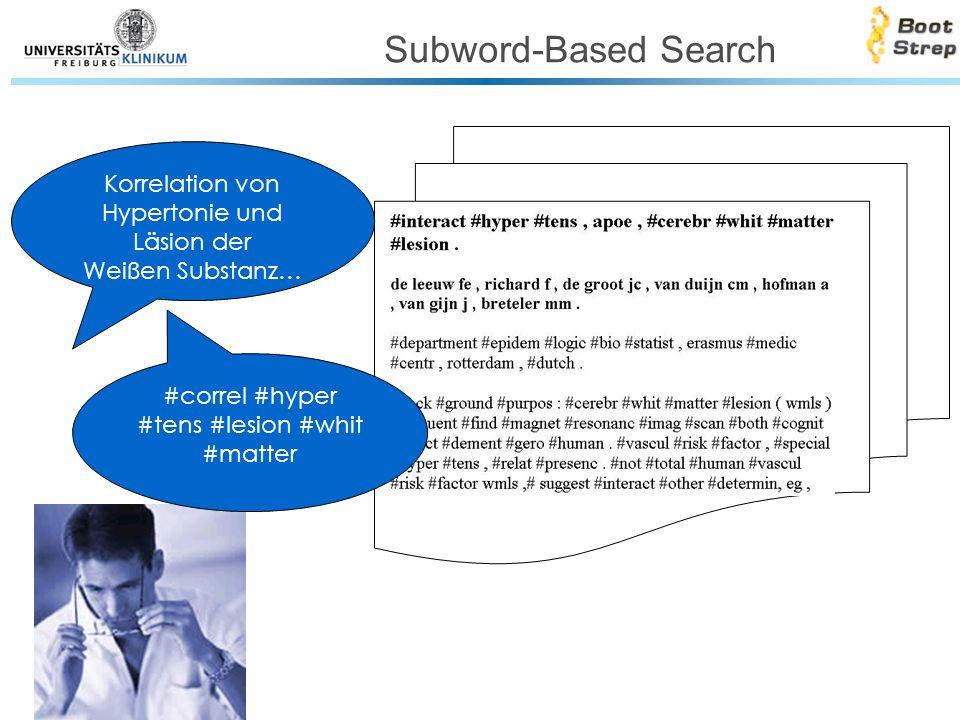 Subword-Based Search Korrelation von Hypertonie und Läsion der Weißen Substanz… #correl #hyper #tens #lesion #whit #matter