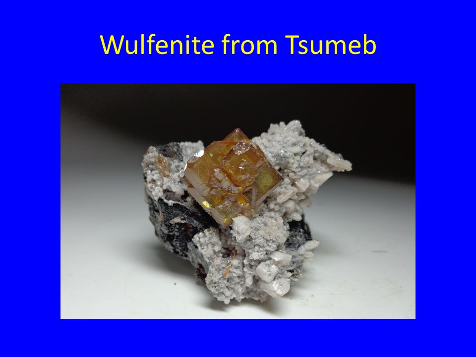 Wulfenite from Tsumeb