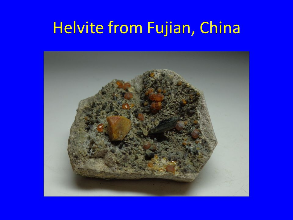 Helvite from Fujian, China