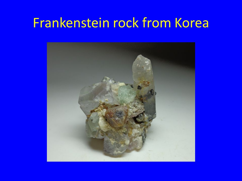 Frankenstein rock from Korea