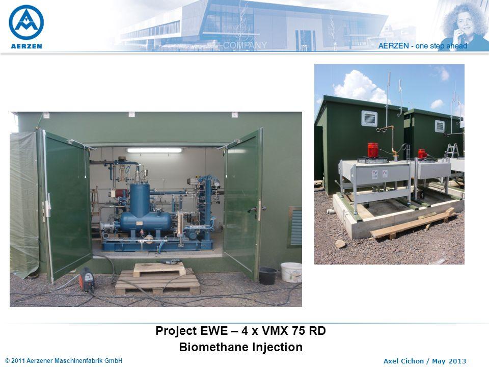 © 2011 Aerzener Maschinenfabrik GmbH Axel Cichon / May 2013 Project EWE – 4 x VMX 75 RD Biomethane Injection