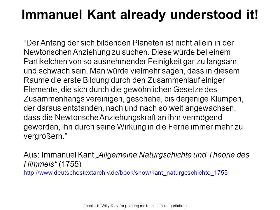 Immanuel Kant already understood it.