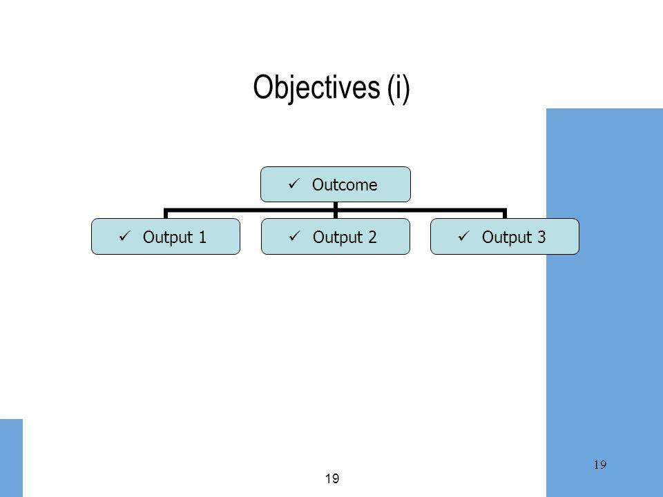 19 Objectives (i)