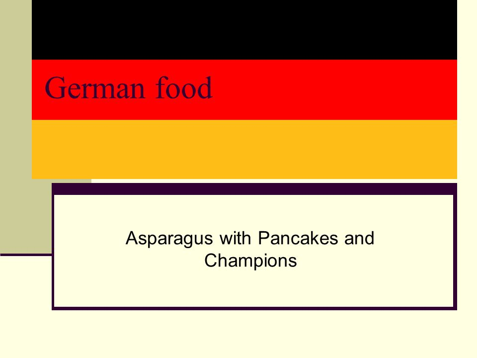 German food Asparagus with Pancakes and Champions