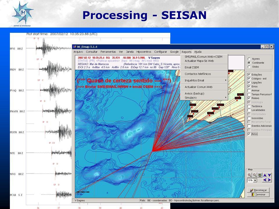 Processing - SEISAN