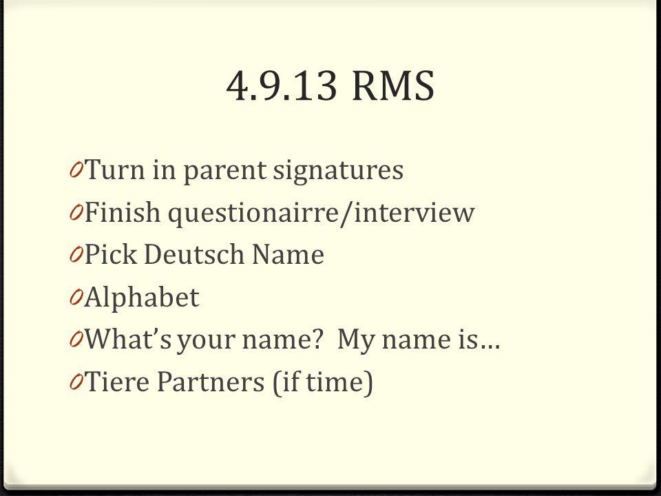 5.9.13 RMS 0 Finish Tiere Partners 0 Alphabet Competition 0 Alphabet Flyswatter Game 0 Partner Practice- Wie heisst du?