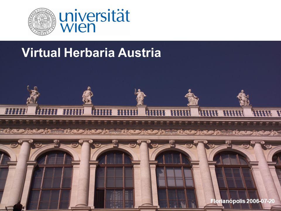 Virtual Herbaria Austria Florianópolis 2006-07-20