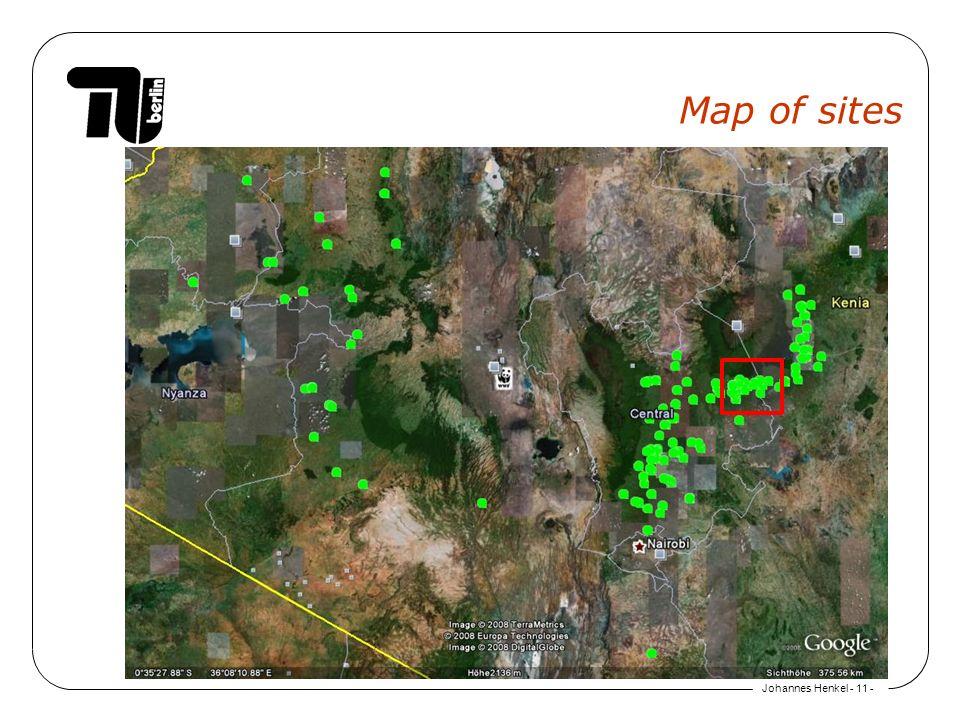 Johannes Henkel - 11 - Map of sites