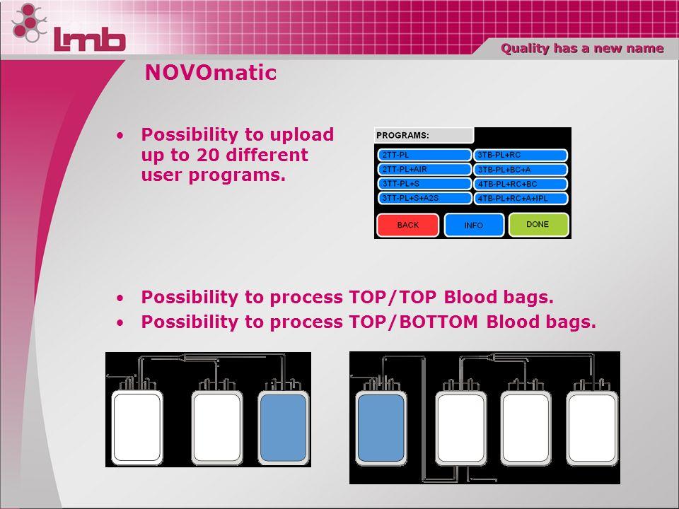NOVOmatic 6 M-Sensors for convenient Buffy Coat separation and Hematokrit detection.