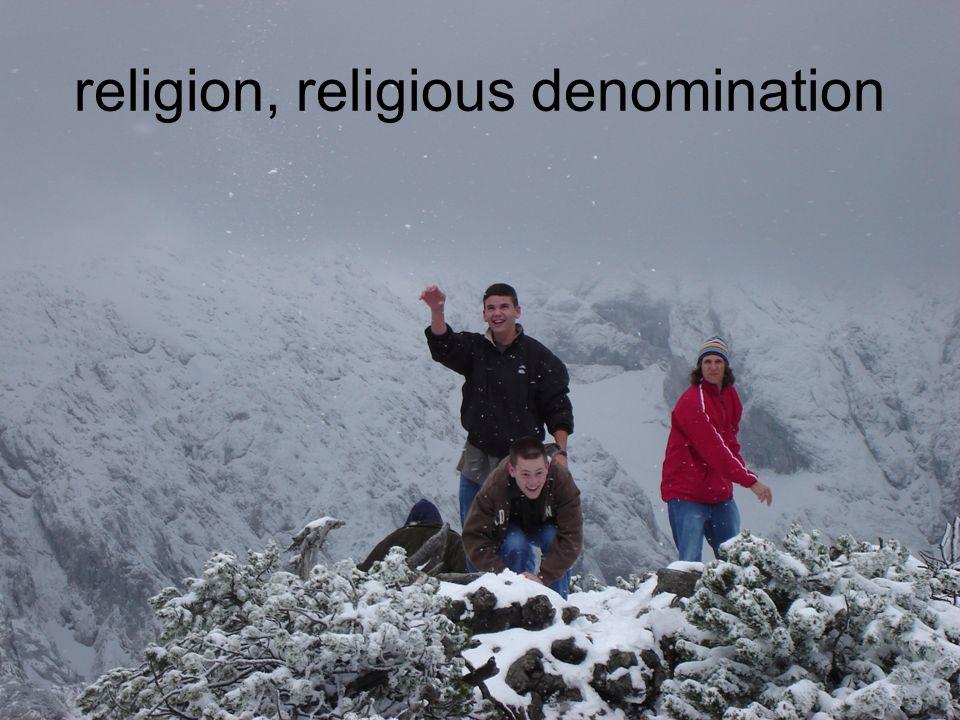 religion, religious denomination