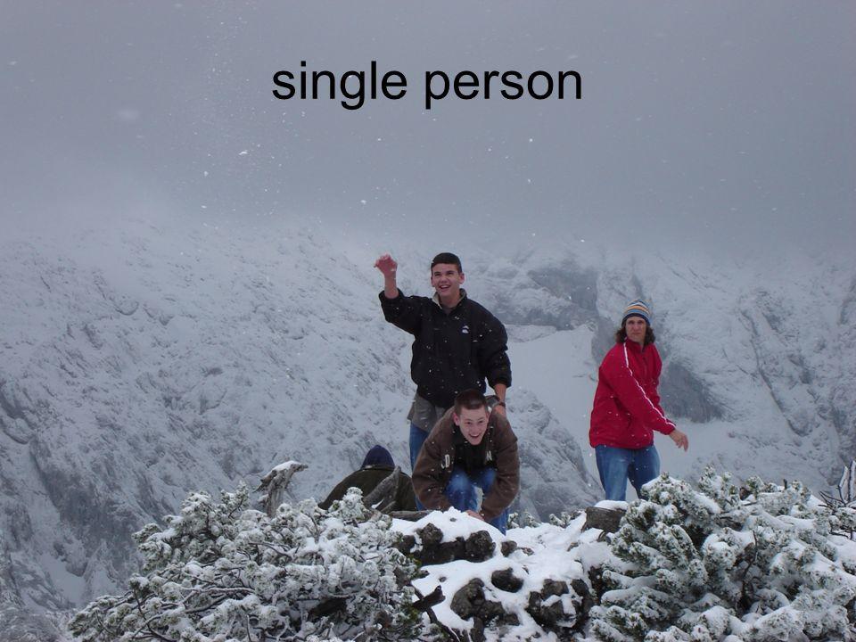 single person