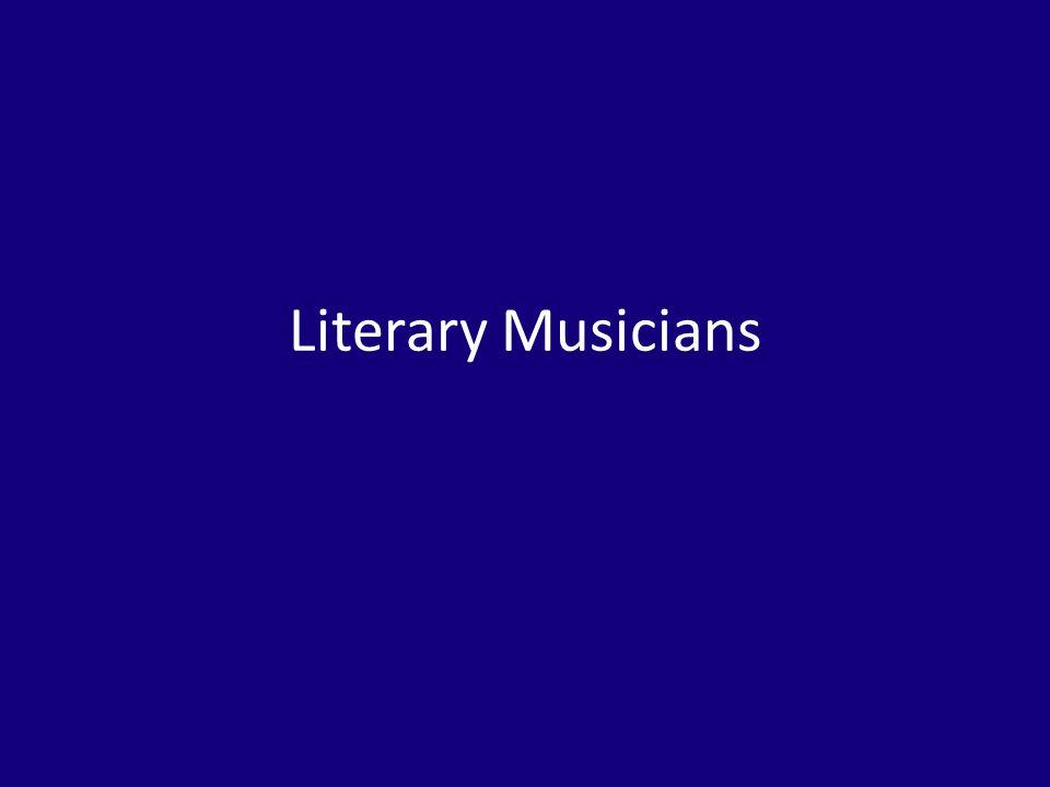 Literary Musicians