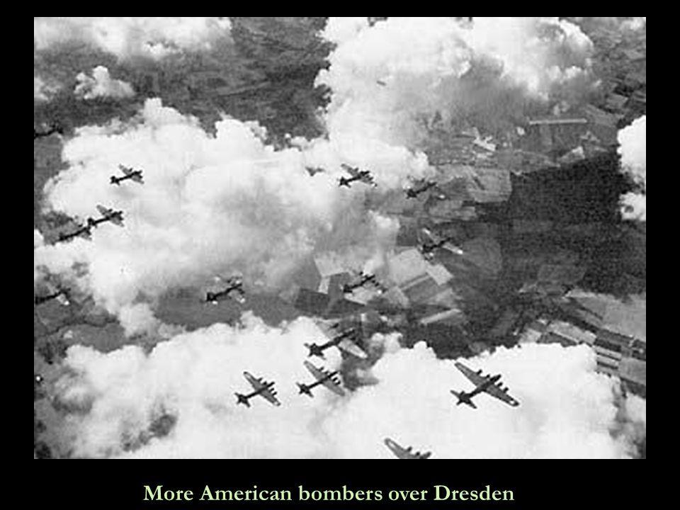 Let it rain…let it rain…American B17 bombers unloading