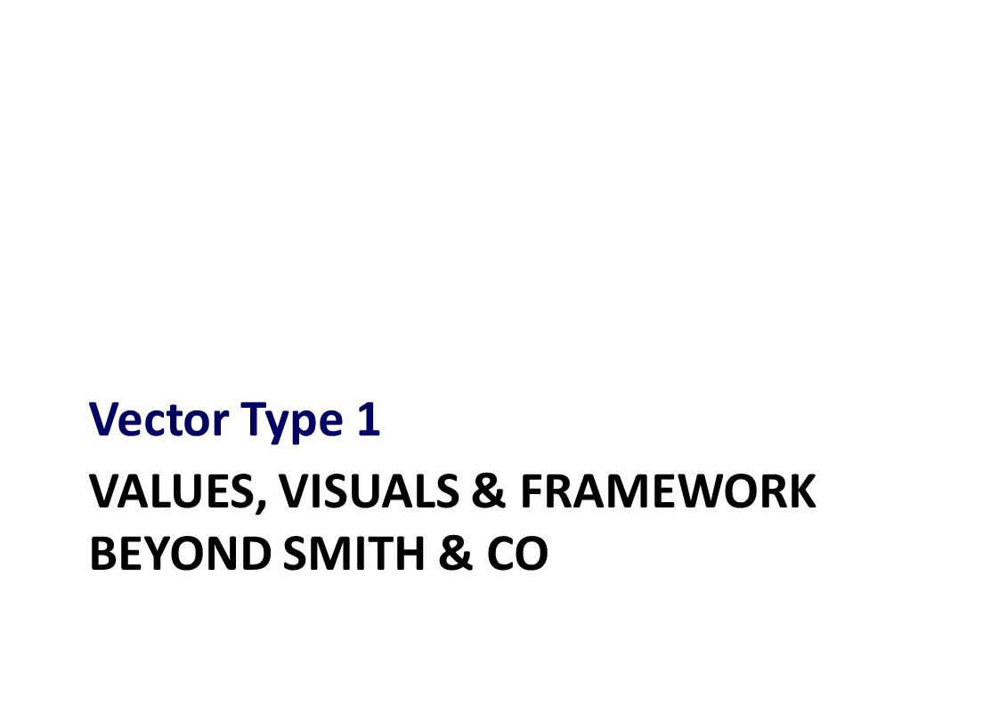 VALUES, VISUALS & FRAMEWORK BEYOND SMITH & CO Vector Type 1
