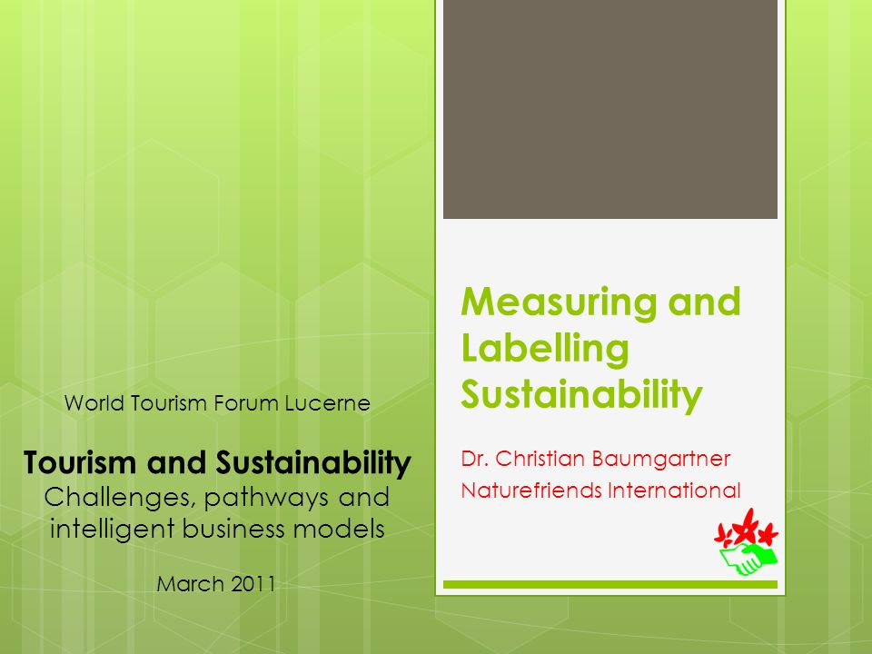 Measuring and Labelling Sustainability Dr.