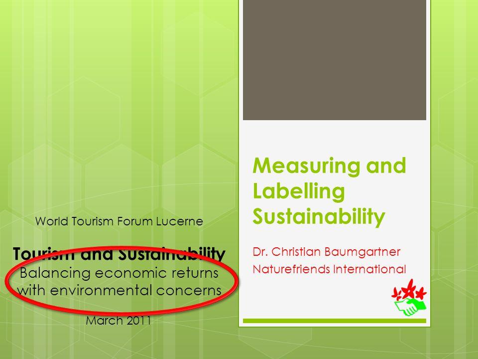 Sustainability in Tourism HR Müller, FIF; C Baumgartner