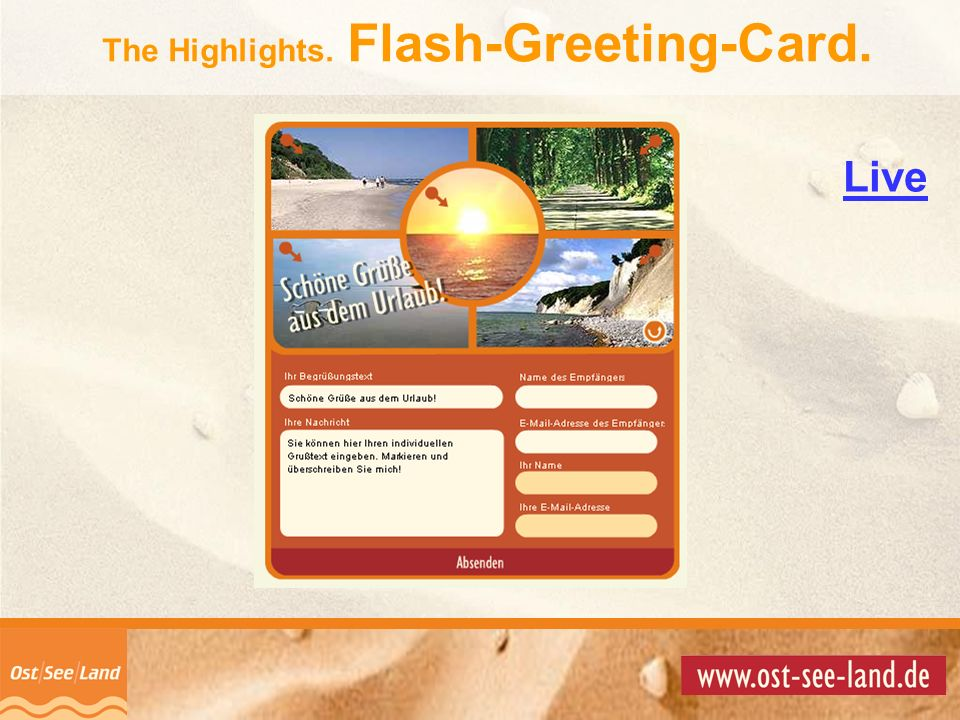 © Copyright 2001 by The Highlights. Flash-Greeting-Card. Live