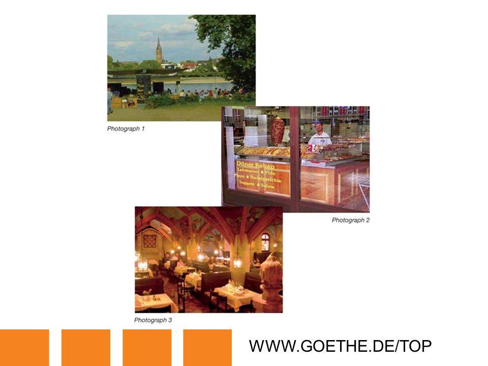 WWW.GOETHE.DE/TOP TRANSPARENCY 4: RESTAURANTS