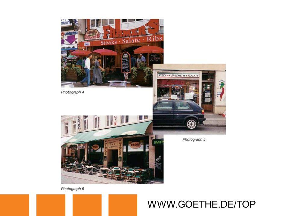 WWW.GOETHE.DE/TOP TRANSPARENCY 4A: RESTAURANTS