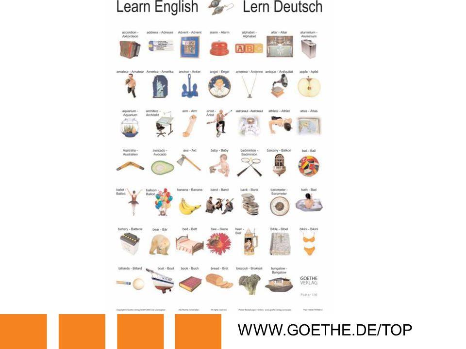 WWW.GOETHE.DE/TOP TRANSPARENCY 5: LETS LEARN GERMAN