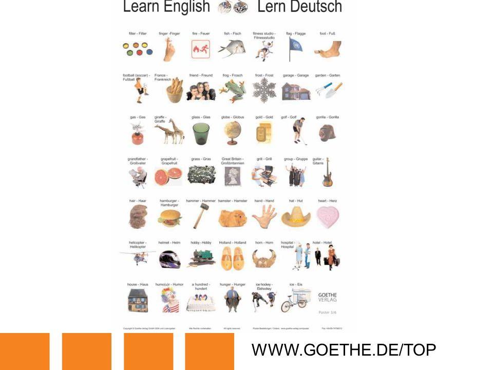 WWW.GOETHE.DE/TOP TRANSPARENCY 5B: LETS LEARN GERMAN