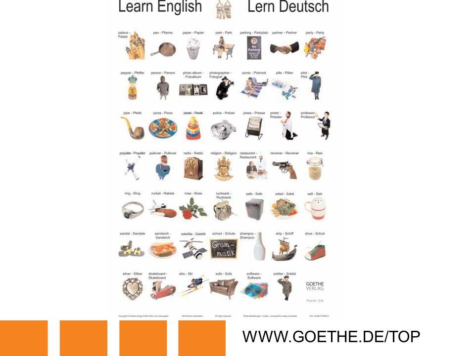 WWW.GOETHE.DE/TOP TRANSPARENCY 5D: LETS LEARN GERMAN